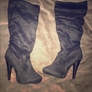 Michael Antonio suede knee high boots